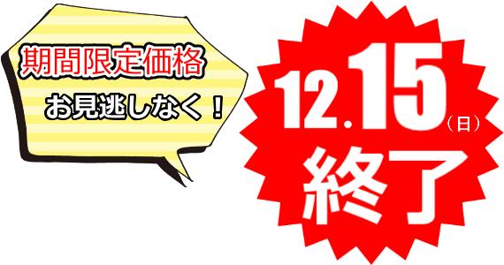 12/15まで期間限定販売