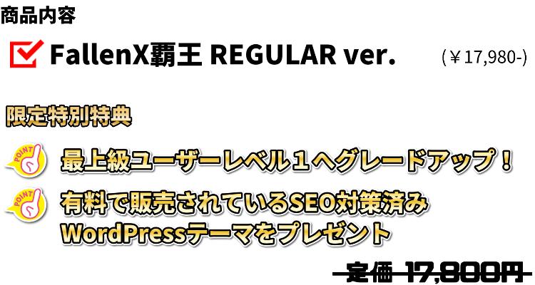 REGULARVer商品内容